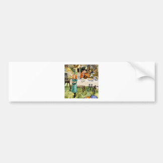 Alice and the Mad Hatter's Tea Party Car Bumper Sticker