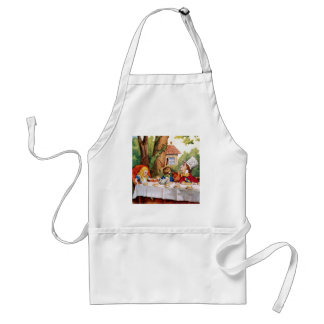 Alice and the Mad Hatter's Tea Party in Wonderland Adult Apron