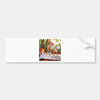 Alice and the Mad Hatter's Tea Party in Wonderland Bumper Sticker