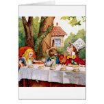 Alice and the Mad Hatter's Tea Party in Wonderland Greeting Card