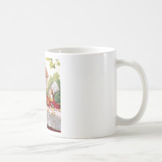 Alice and the Mad Hatter's Tea Party in Wonderland Mug