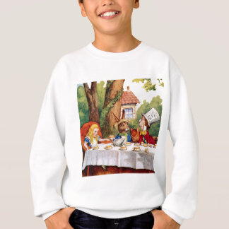 Alice and the Mad Hatter's Tea Party in Wonderland Sweatshirt