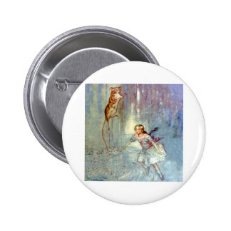 Alice and the Mouse Swim in the Pool of Tears Button
