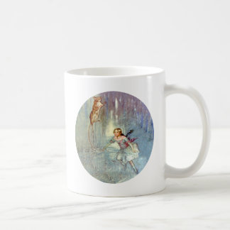 Alice and the Mouse Swim in the Pool of Tears Classic White Coffee Mug