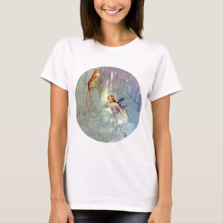 Alice and the Mouse Swim in the Pool of Tears T-Shirt