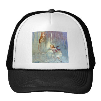 Alice and the Mouse Swim in the Pool of Tears Trucker Hat