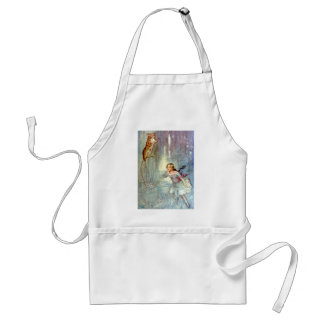 Alice and the Mouse Swimmimg in the Pool of Tears Adult Apron