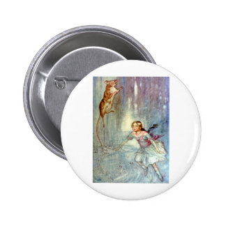 Alice and the Mouse Swimmimg in the Pool of Tears Button