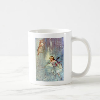 Alice and the Mouse Swimmimg in the Pool of Tears Coffee Mug