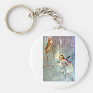 Alice and the Mouse Swimmimg in the Pool of Tears Keychain