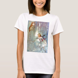 Alice and the Mouse Swimmimg in the Pool of Tears T-Shirt