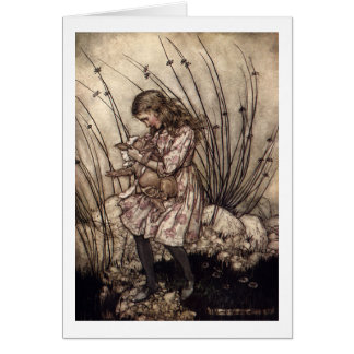 Alice and the Pig Baby Card