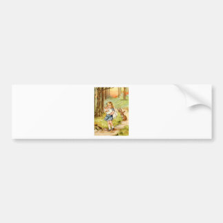 Alice and the Pig Baby in Wonderland Bumper Sticker