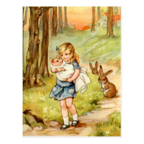 Alice and the Pig Baby in Wonderland Postcard