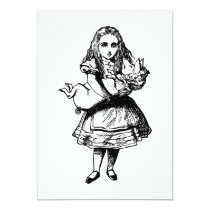 Alice and the Pig Baby Inked Black Card