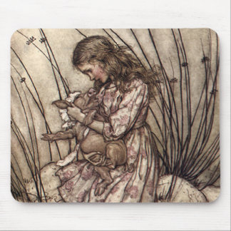 Alice and the Pig Baby Mouse Pad