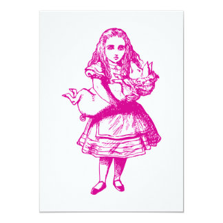 Alice and the Pig Baby Pink Card