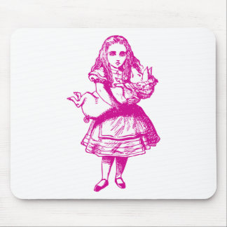 Alice and the Pig Baby Pink Mouse Pad