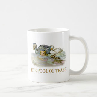 Alice and the pool of tears classic white coffee mug