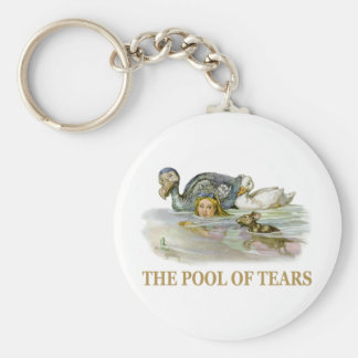 Alice and the pool of tears keychain