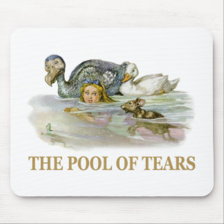 Alice and the pool of tears mouse pad
