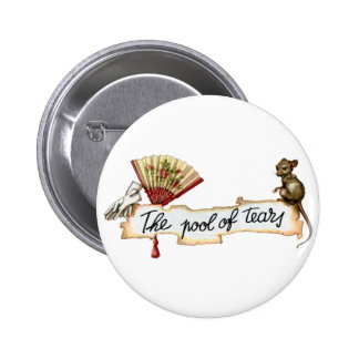 Alice and The Pool of Tears. Pinback Button