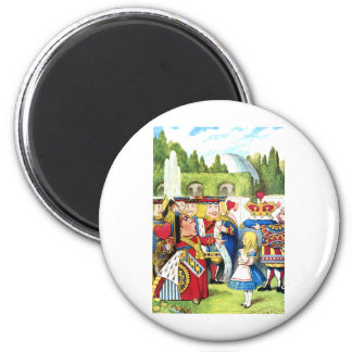 ALICE AND THE QUEEN OF HEARTS 2 INCH ROUND MAGNET