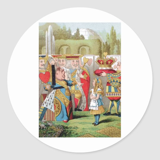 ALICE AND THE QUEEN OF HEARTS CLASSIC ROUND STICKER