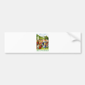 Alice and the Queen of Hearts in Wonderland Car Bumper Sticker