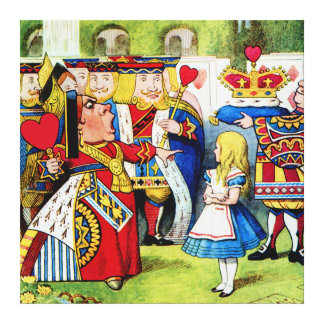 Alice and the Queen of Hearts in Wonderland Canvas Print