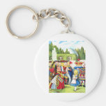 ALICE AND THE QUEEN OF HEARTS KEYCHAINS