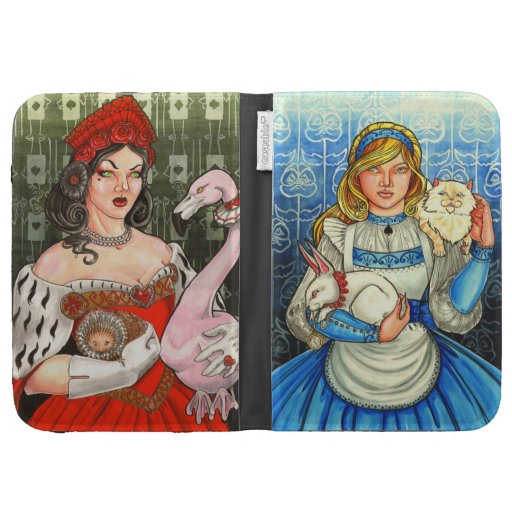 Alice and the Queen of Hearts Kindle Case