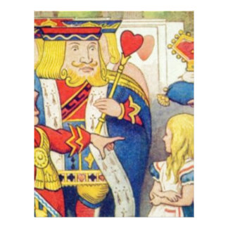 Alice and the Queen of Hearts Letterhead