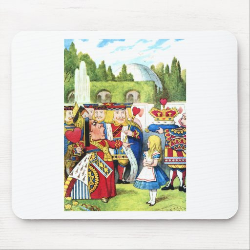 ALICE AND THE QUEEN OF HEARTS MOUSE PAD