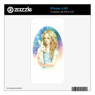 Alice and the Rabbit Decals For iPhone 4S