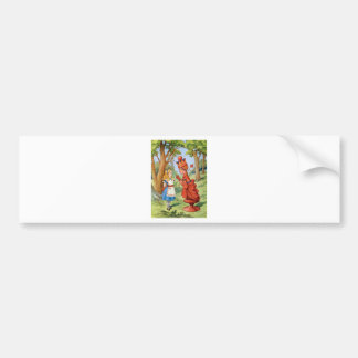 Alice and the Red Queen in Wonderland Bumper Sticker