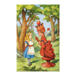 Alice and the Red Queen in Wonderland Gallery Wrapped Canvas