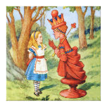 Alice and the Red Queen in Wonderland Canvas Print