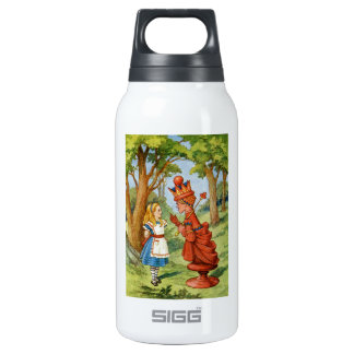Alice and the Red Queen in Wonderland Insulated Water Bottle