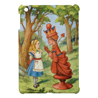 Alice and the Red Queen in Wonderland iPad Mini Cover