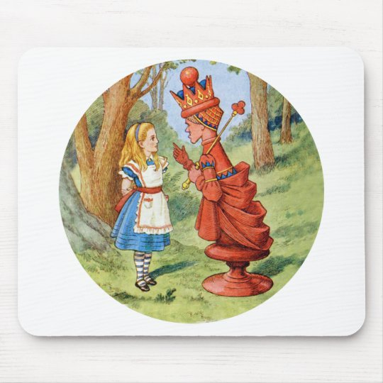 Alice and the Red Queen in Wonderland Mouse Pad