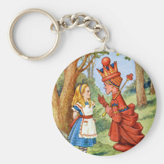 ALICE AND THE RED QUEEN KEYCHAIN