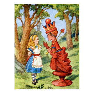 ALICE AND THE RED QUEEN POSTCARD