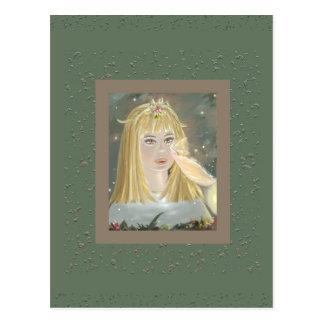 Alice and the Rosebush Fairy postcard