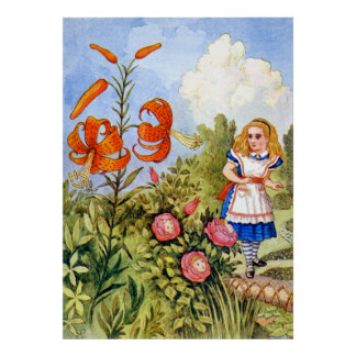 Alice and the Talking Flowers in Wonderland Poster