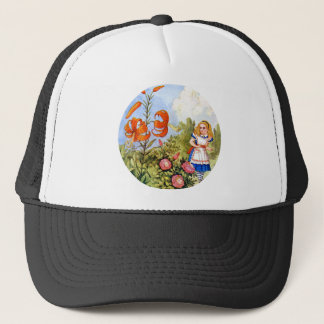 Alice and the Talking Flowers in Wonderland Trucker Hat