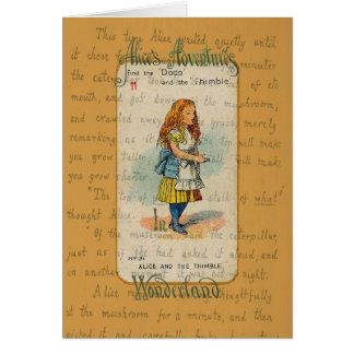 Alice and the Thimble Greeting Card Greeting Card