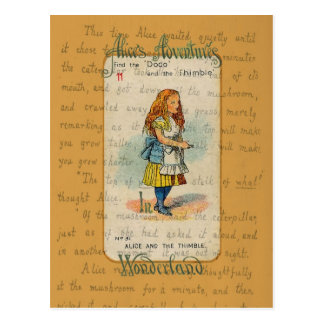 Alice and the Thimble Postcard Postcard