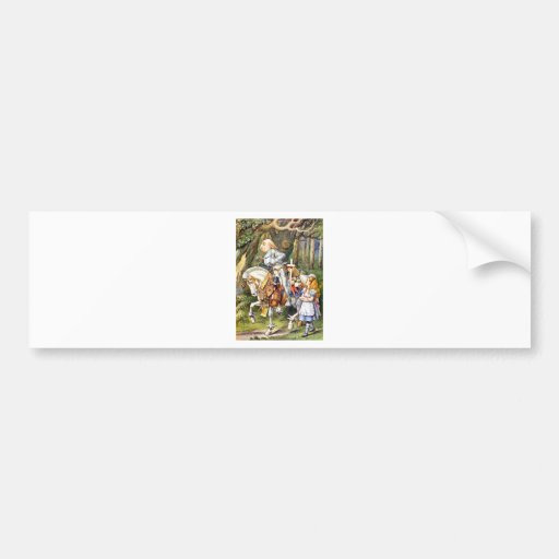 ALICE AND THE WHITE KNIGHT IN WONDERLAND BUMPER STICKERS