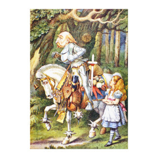 Alice and the White Knight in Wonderland Gallery Wrapped Canvas